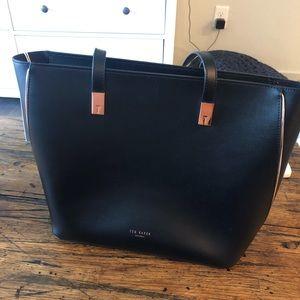 Black Ted Baker Bag with Rose Gold Hardware